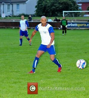 Ex-Hollyoaks star Ricky Whittle plays in a charity football match in Liverpool in aid of Willowbrook Hospice. Earlier in the...