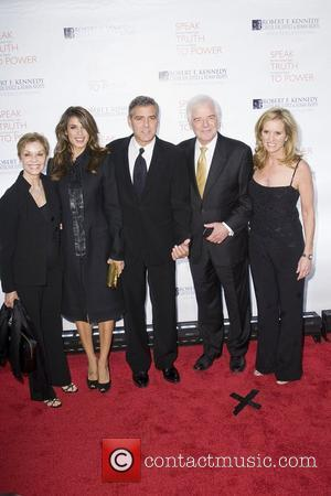 Elisabetta Canalis, George Clooney, Justice, Kerry Kennedy and Robert F Kennedy