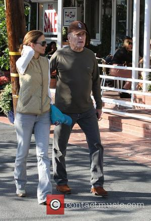 Robert Duvall and wife Luciana Pedraza shopping at Fred Segal in West Hollywood. Los Angeles, California - 20.01.11