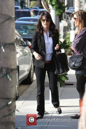 Robin Tunney out and about with a friend in Beverly Hills Los Angeles, California - 16.12.09