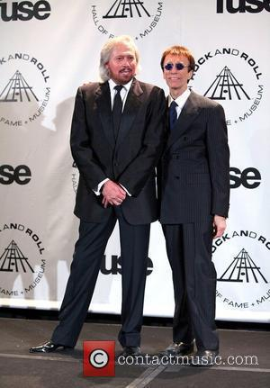 Barry Gibb and Robin Gibb of the Bee Gees 25th Annual Rock And Roll Hall Of Fame Induction Ceremony -...