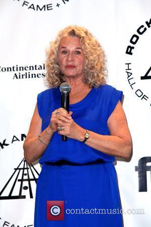 Carole King 25th Annual Rock And Roll Hall Of Fame Induction Ceremony - Press Room at the Waldorf Astoria hotel...