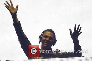 DJ Tiesto performing live on the 4th day of Rock in Rio Madrid at El Campillo in Spain Arganda Del...