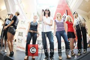 Constantine Maroulis Performance by the cast of 'Rock of Ages' at JCPenney in the Manhattan Mall New York City, USA...