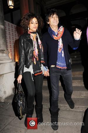 Ronnie Wood and Ana Araujo