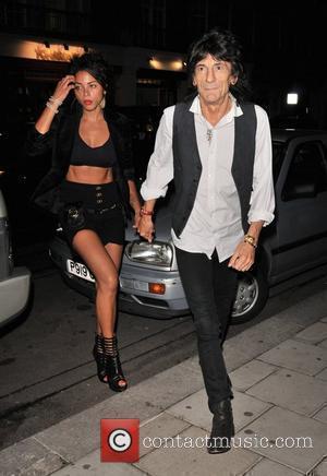 Ana Araujo and Ronnie Wood