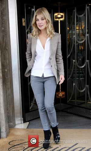 Rosamund Pike leaving her hotel London, England - 21.09.10