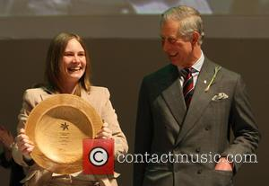 Prince Charles and Prince Of Wales Presents Karen Mclaughlin With The 'young Achiever Of The Year' Award At The Prince's Trust Celebrate Success Awards At The Odeon Leicester Square