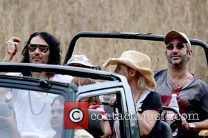 Katy Perry, David Baddiel and Russell Brand