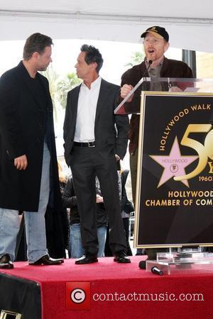 Russell Crowe, Brian Grazer and Ron Howard
