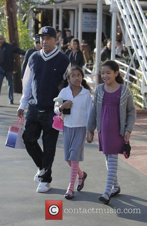 Russell Simmons, His Daughters Ming Lee and Aoki Lee