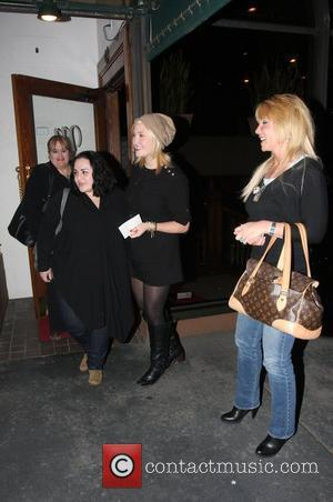 Pamela Bach and her daughter Hayley Amber Hasselhoff leaving Madeo restaurant on Beverly Boulevard Los Angeles, California - 31.03.10
