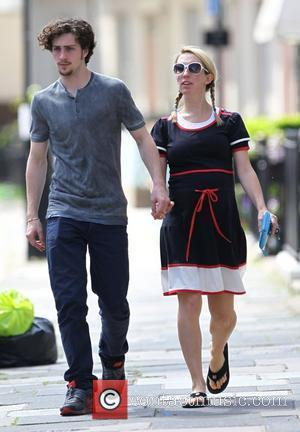 Aaron Johnson and Sam Taylor-Wood enjoying the sunshine in north London London, England - 19.05.10