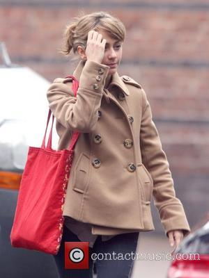 Samia Smith leaving the Granada Studios following the recent split from her husband Manchester, England - 10.01.11