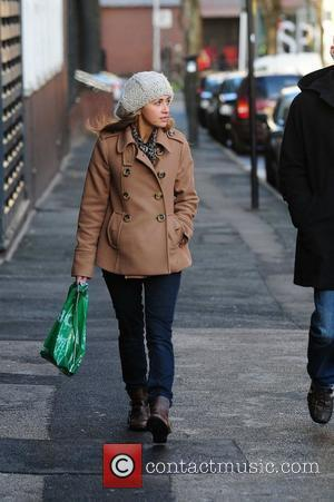 Samia Smith braves the cold weather to do some shopping Manchester, England - 30.11.10