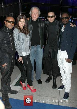 The Black Eyed Peas and James Cameron The Black Eyed Peas launch the Samsung 3D LED TV at the Time...