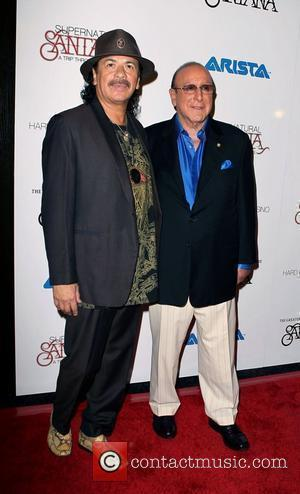Carlos Santana, Clive Davis  Santana Celebrates New Album Guitar Heaven At The Hard Rock Hotel & Casino Las Vegas,...