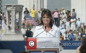 Sarah Palin Rally honouring America's serivce personnel and outstanding citezins on the steps of the Lincoln Memorial Washington DC, USA...