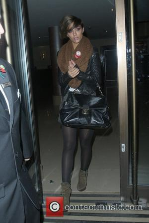 Frankie Sandford of The Saturdays returning to her hotel from the Pride of Britain Awards for a quick change of...