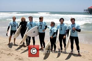 Zoe Bell, Sam Trammell, Chris Bruno, Michael Munoz, David O'Donnell, and Surfer 8 participate in the 3rd Annual Project SOS:...