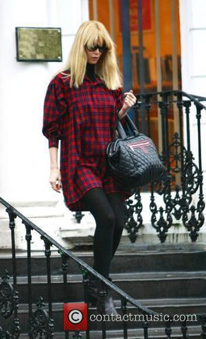 Pregnant Claudia Schiffer dropping her children off at school London, England - 22.01.10