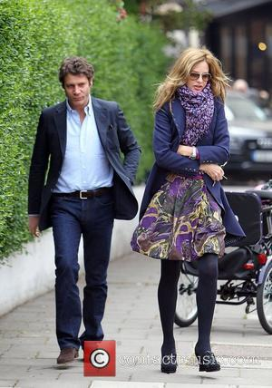 Trinny Woodall and her boyfriend Stefano Bonfiglio after taking her daughter to school London, England - 05.05.10
