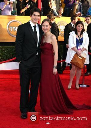 Courtney Ford and Brandon Routh The 16th Annual Screen Actors Guild Awards held at The Shrine - Arrivals Los Angeles,...