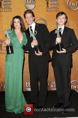 Lea Michele, Matthew Morrison and Chris Colfer