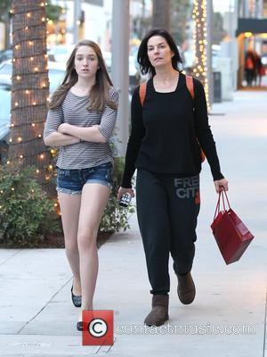 'CSI:NY' actress Sela Ward and her daughter Anabella Sherman  out shopping in Beverly Hills Los Angeles, California - 04.12.10