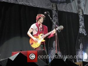 Stevy Pyne of american rock band Semi Precious Weapons performing at the O2 Arena. London, England - 16.12.10