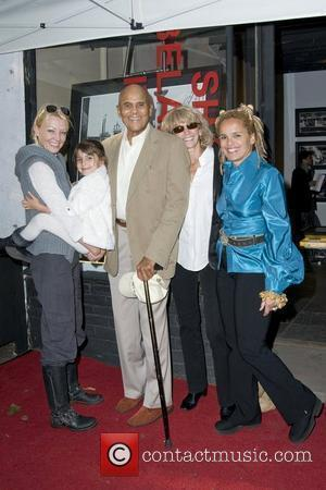 Malena Belafonte, Sarafina Belafonte, Harry Belafonte, Pamela Belafonte, Shari Belafonte Shari Belafonte's 'Italy' exhibition opening at Chair and The Maiden...