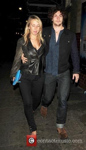 Sam Taylor-Wood and Aaron Johnson celebrities outside J Sheekey's restaurant London, England - 05.09.10