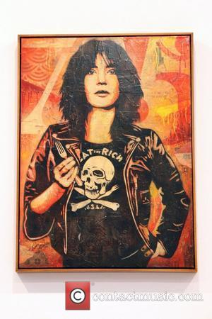 Patti Smith artwork by Shepard Fairey Shepard Fairey's 'May Day' exhibition opens at Deitch Projects New York City, USA -...