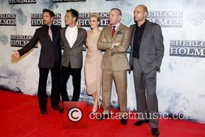 Robert Downey Jr, Guy Ritchie, Jude Law and Rachel Mcadams