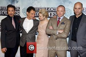 Robert Downey Jr, Jude Law, Rachel McAdams, Guy Ritchie, Mark Strong Premiere of 'Sherlock Holmes' at Kinepolis cinema Madrid, Spain...