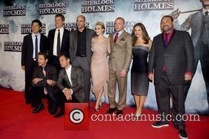Robert Downey Jr, Jude Law, Guy Ritchie, Mark Strong and Rachel Mc Adams Premiere of 'Sherlock Holmes' at Kinepolis cinema...