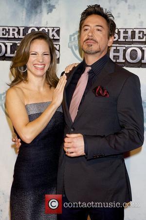 Robert Downey Jr and wife Susan Downey Premiere of 'Sherlock Holmes' at Kinepolis cinema Madrid, Spain - 13.01.10