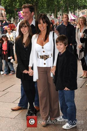 Linda Lusardi and family Shrek Forever After - gala screening held at the Vue Leicester Square. London, England - 20.06.10