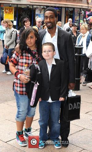 Simon Webbe and family Shrek Forever After - gala screening held at the Vue Leicester Square. London, England - 20.06.10