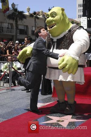 Shrek and Mike Myers Shrek honoured with the 2408th star on the Hollywood Walk of Fame Los Angeles, California -...