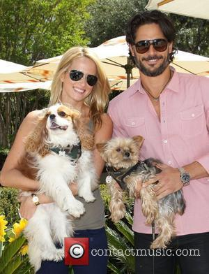 Joe Manganiello and Guest Annual Dog And Baby Buffet Mother's Day Event at the Hyatt Regency Century Plaza - Day...