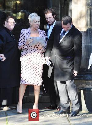 Denise Welch and Guest attend the wedding of Simon Gregson and Emma Gleave at St Bartholomew's Church  Wilmslow, England...