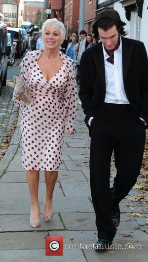 Denise Welch and Guest arrives for the wedding of Simon Gregson and Emma Gleave at St Bartholomew's Church  Wilmslow,...
