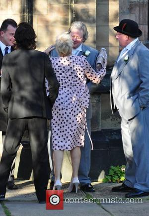 Guest, Denise Welch and Charles Lawson arrives for the wedding of Simon Gregson and Emma Gleave at St Bartholomew's Church...