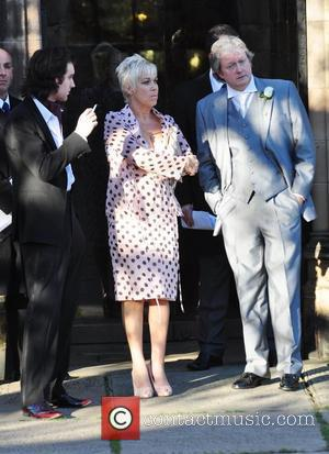 Guest, Denise Welch and Charles Lawson attend the wedding of Simon Gregson and Emma Gleave at St Bartholomew's Church...