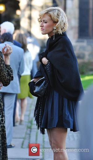 Katherine Kelly arrives for the wedding of Simon Gregson and Emma Gleave at St Bartholomew's Church  Wilmslow, England -...