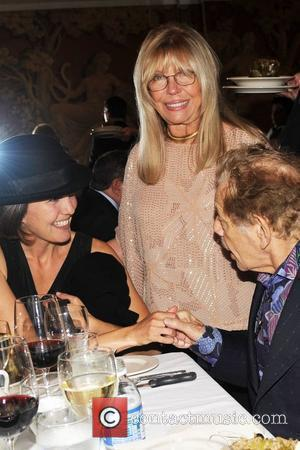 Amanda Erlinger, Nancy Sinatra and Jerry Stiller 'Come fly with us' - a launch party for wines from the Sinatra...