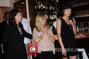 Nancy Sinatra poses with her daughters A.J. Lambert and Amanda Erlinger 'Come fly with us' - a launch party for...