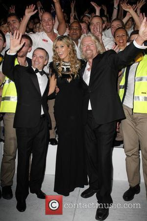 Virgin Blue CEO John Borghetti, Delta Goodrem and Sir Richard Branson  Sir Richard Branson celebrates Virgin Australia Airlines tenth...