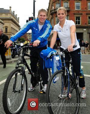Gemma Atkinson and boyfriend Sky Ride Manchester  Manchester, England - 01.08.10